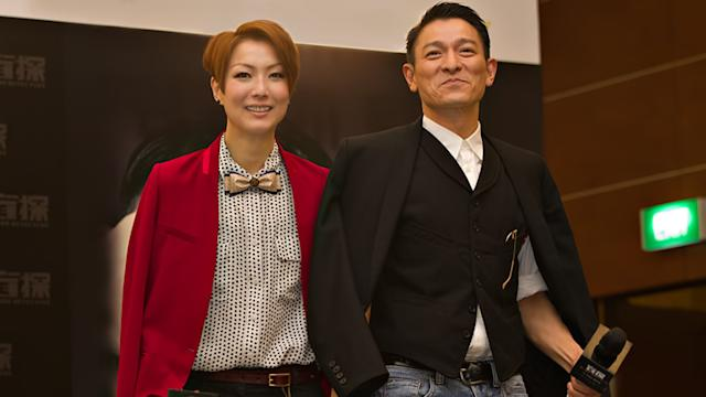 HK superstars Andy Lau and Sammi Cheng in Singapore