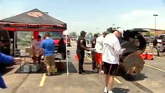 OSU coaching crew serves tornado victims
