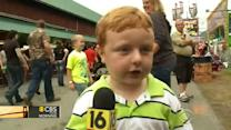 Adorable boy makes live TV debut