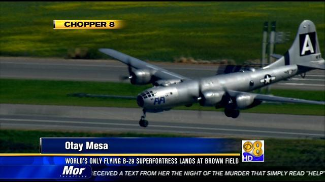 World's only flying B-29 Superfortress lands at Brown Field