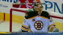 Tuukka Rask makes a series of saves