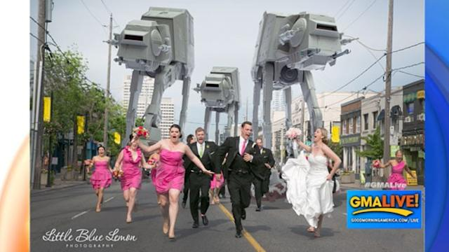 Bridal Party Attacked By 'Star Wars' AT-AT Walkers