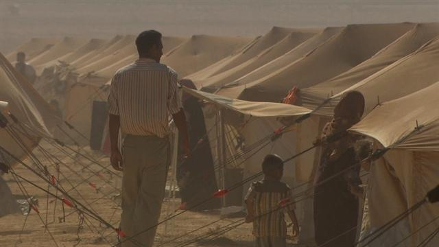 Inside a Middle East refugee camp