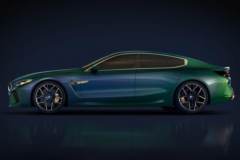 接下來的8 series Gran Coupe會不會就長M8 Gran Coupe Concept這樣呢?