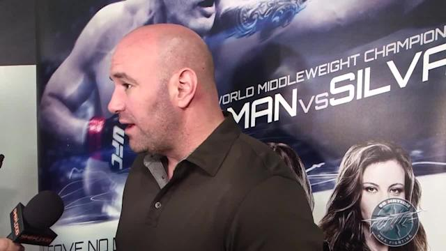 Dana White UFC 168 world tour: LA media scrum