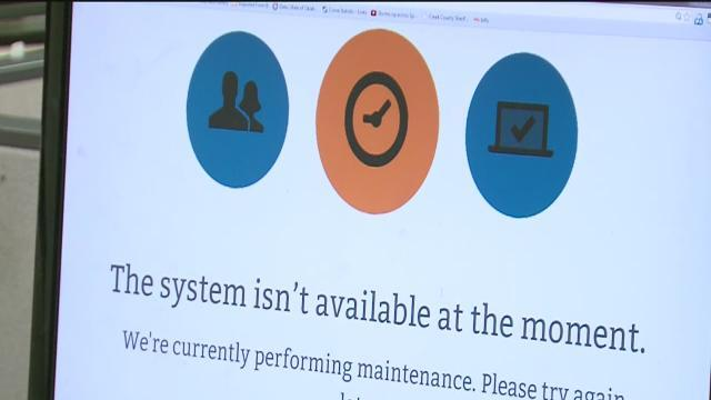 Healthcare website down on day of deadline