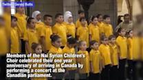 Syrian Refugee Children's Choir Performs at Canadian Parliament