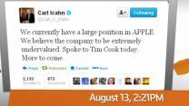 FACTBOX: Icahn pressures Apple - A Twitter Timeline