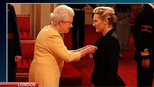 Winslet honoured by the Queen