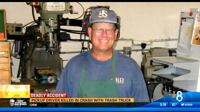 Pickup driver killed in crash with trash truck