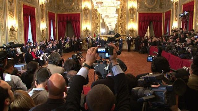Italy's government sworn in after two-month deadlock