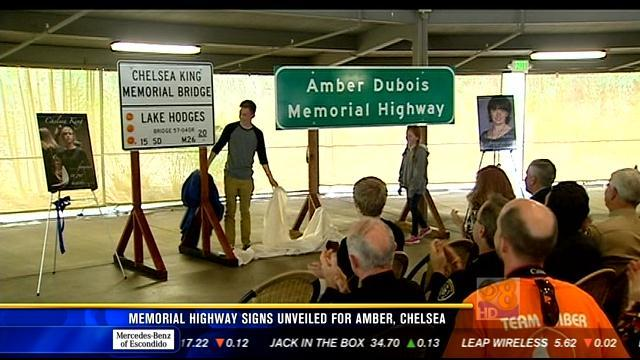 Memorial highway signs unveiled for Amber, Chelsea
