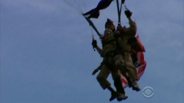 D-Day veteran parachutes into Normandy, again