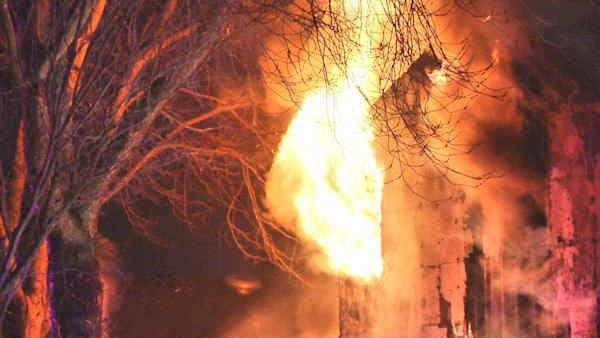 Truck slams into home causing fire on Long Island