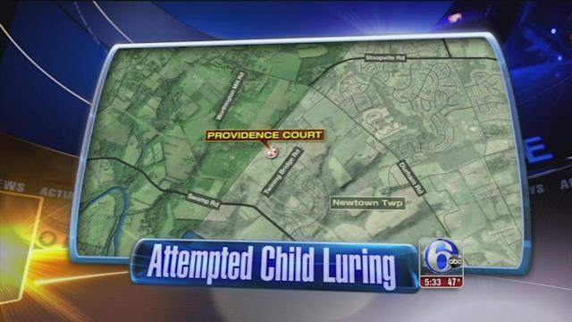 Attempted child luring in Newtown Twp., Bucks County