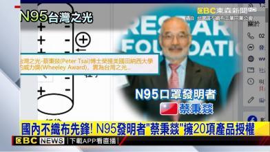 你知道嗎?N95口罩是台灣人發明的