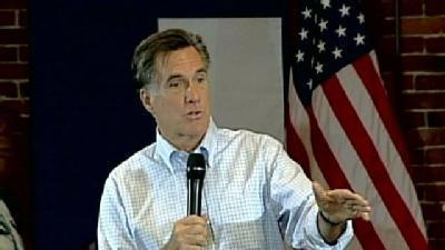 Romney Answers Questions At Town Hall