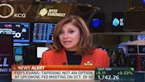 Fed's Evans: Taper not an option for October