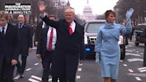 The Inauguration of President Donald Trump In A Minute