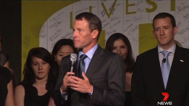Armstrong appears at charity dinner