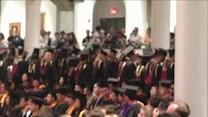 Students Turn Back On University Pres. During Graduation