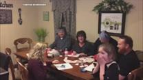 Mom-to-be pranks family members to reveal pregnancy news