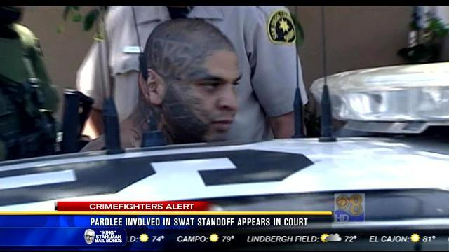 Parolee involved in SWAT standoff appears in court