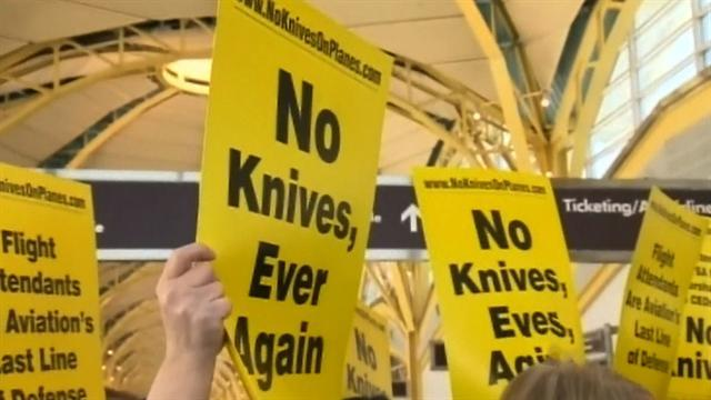 Major change in TSA's plan to allow knives on planes