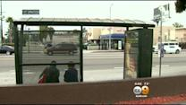 Police Search For Leads In Deadly Bus Stop Stabbing In Van Nuys