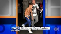 Justin Bieber Celebrates His B-day … (Almost) in His Birthday Suit!