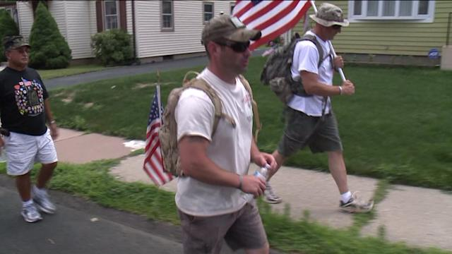 Veteran Walks 56 Miles For Recovering Soldiers