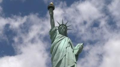 Lady Liberty Showered With Rose Petals for D-Day