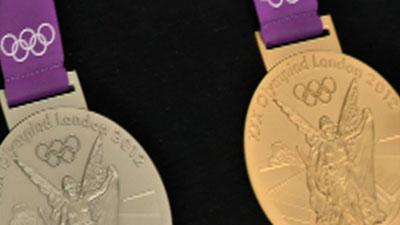 Raw Video: Olympic medals on display