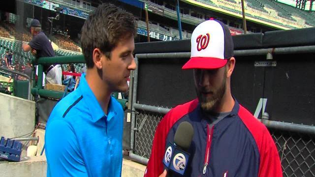 Bryce Harper excited to take field against one of his heroes, Miguel Cabrera