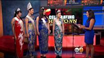 2015 Miss Los Angeles Chinatown Court Visits KCAL9