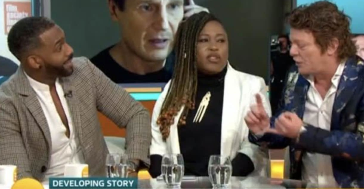 Chaos erupts during heated Liam Neeson debate on Good Morning Britain""