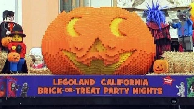 World's largest Lego pumpkin unveiled in Los Angeles