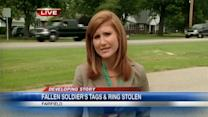 Wedding ring and dog tags of fallen soldier stolen from widow's car