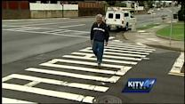 Message in crosswalk tickles residents, irks officials