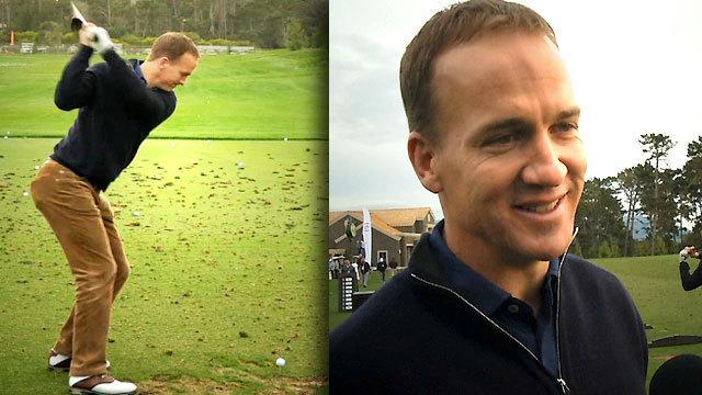 Peyton Manning tees up Pebble Beach