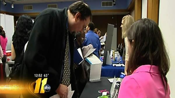 Workers line up at Fayetteville job fair
