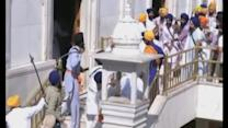 Sword-wielding Sikhs clash at India's Golden Temple