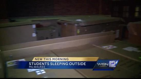 Riverside students sleep outside to raise attention to homeless