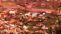 Tornado levels homes in Shawnee, Okla.