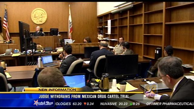 Judge withdraws from Mexican drug cartel trial