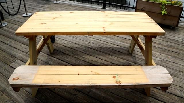 How to Spruce Up Your Boring Old Picnic Table