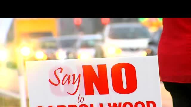 Carrollwood homeowners protest big box store, gas station