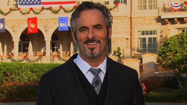 Feherty jokes about his use of a long putter