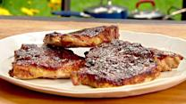 Grilled Spice-Rubbed Pork Chops with Sorghum BBQ Sauce