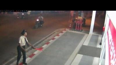 Thai stab suspect video released